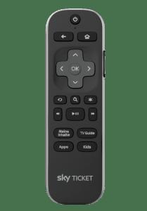 Die Fernbedienung des Sky Ticket TV-Stick ist recht kompakt