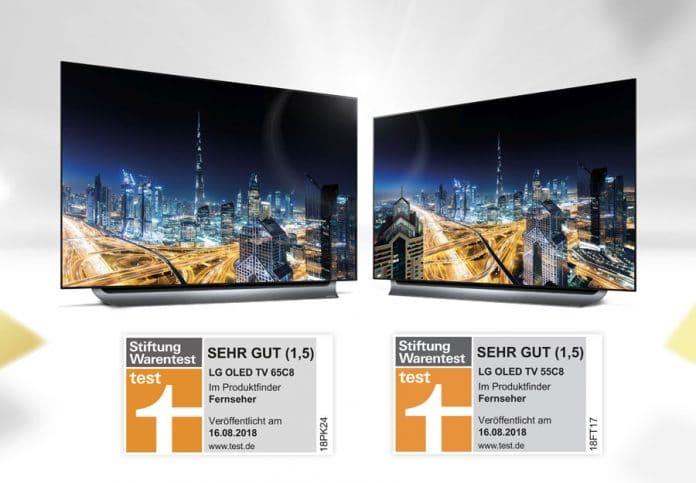 Die C8 OLED TVs überzeugen bei Stiftung Warentest und bekommen dafür die Note