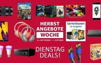 """Die Dienstag Deals in der """"Herbst Angebote Woche"""" auf Amazon.de"""