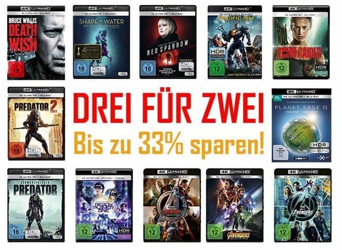 Drei kaufen nur zwei zahlen auf Filme, Serien, Games und Musik - NUR NOCH 2 TAGE!