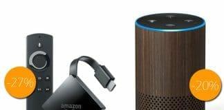 Den Fire TV 4K/HDR und Amazon Echo gibt es jetzt mit Preisvorteil als Renewed-Gerät