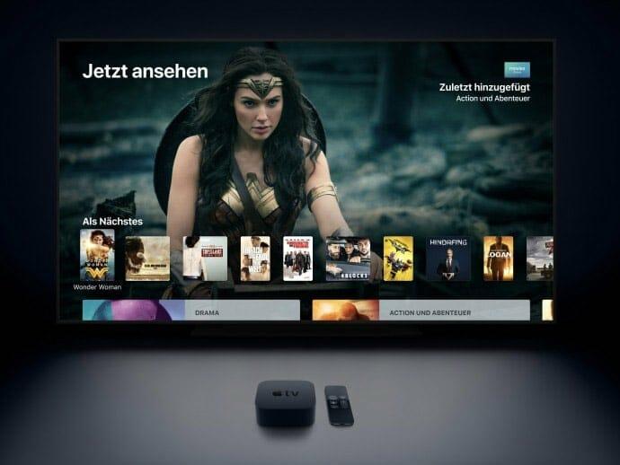 Der itunes Store bietet eine breite Auswahl an Filmen & Serien - Hier eine Produktsuche auf dem Apple TV 4K