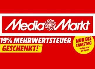 19% Mehrwertsteuer geschenkt auf alle lieferbaren MediaMarkt Produkte!