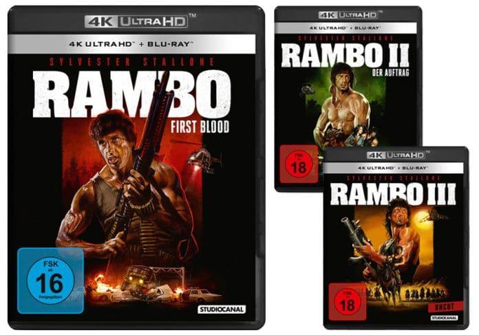 Rambo I, II & III erscheint als ungekürztes (uncut) Remaster auf 4K UHD Blu-ray
