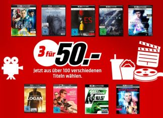MediaMarkt lockt mit einer neuen Multibuy-Aktion: Drei 4K Blu-rays für 50 Euro - Versandkostenfrei!