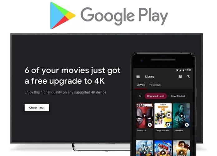 Gratis 4K-Upgrade für bereits gekaufte HD-Filme im Google Play Store!