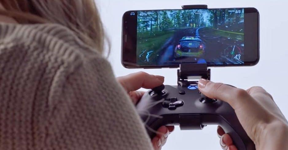 Forza auf einem Android Smartphone mit Xbox Wireless Controller (Bluetooth)