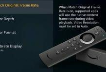Der Fire TV Stick 4K passt die Bildwiederholungsrate an die Framerates der Inhalte an