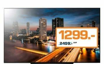 Den LG B8 4K OLED gibt es aktuell für günstige 1.299 Euro im Saturn-Prospekt!