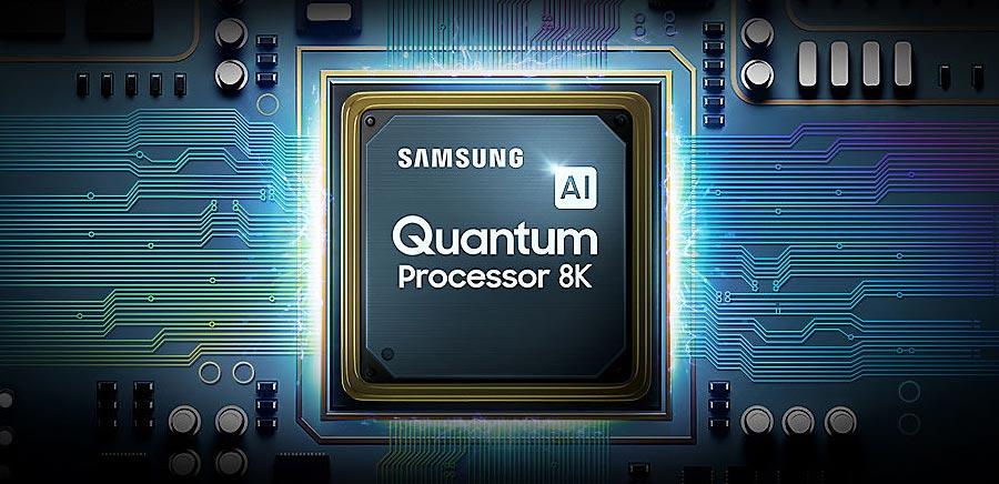 Der Quantum Processor 8K mit künstlicher Intelligenz (AI) bildet das Herzstück des Q900 8K TVs