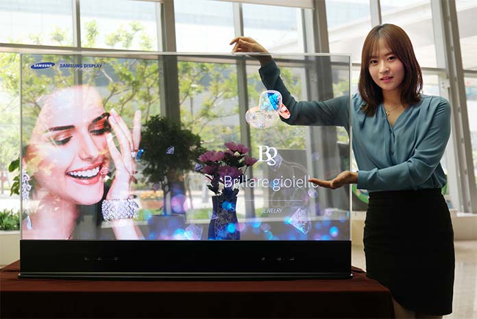 Transparentes OLED-Display von Samsung (2015)