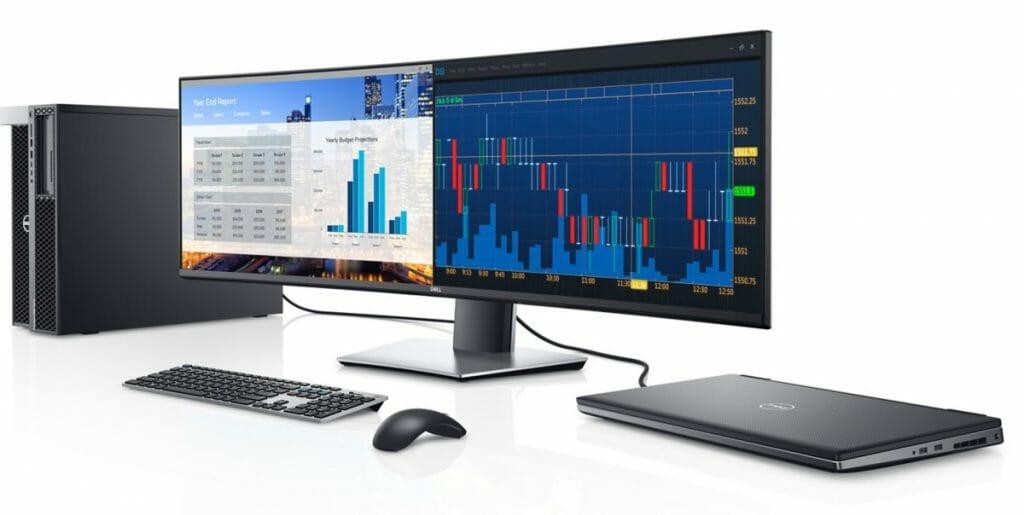 Der Dell U4919DW curved 5K-Monitor lädt zum effektivem Arbeiten ein