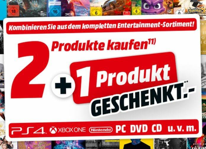 2 Artikel kaufen + 1 geschenkt auf alle Entertainment-Produkte (Filme, Spiele & Musik)