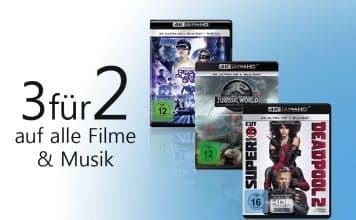 3 für 2 auf alle* Filme & Musik auf Amazon.de!