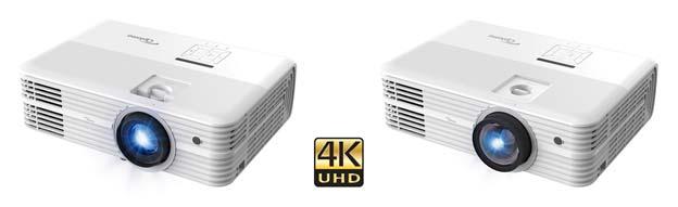 Optoma 4K550 (links) und 4K550ST mit Kurzdistzanzobjektiv