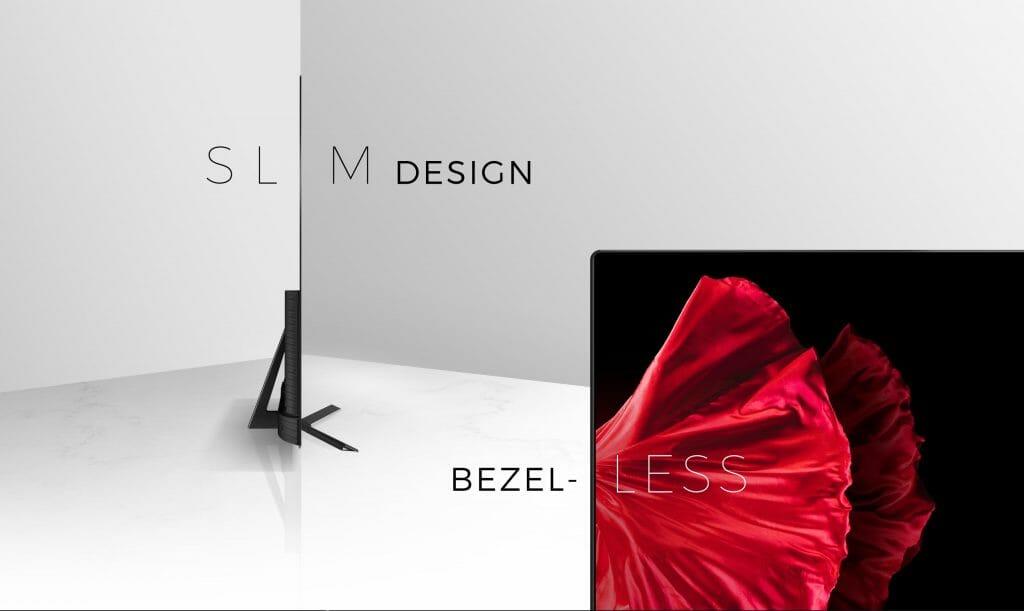Das Design des Hisense OLED-TV ist recht ansprechend, unterscheidet sich aber nicht besonders von den Geräten der Mitbewerber