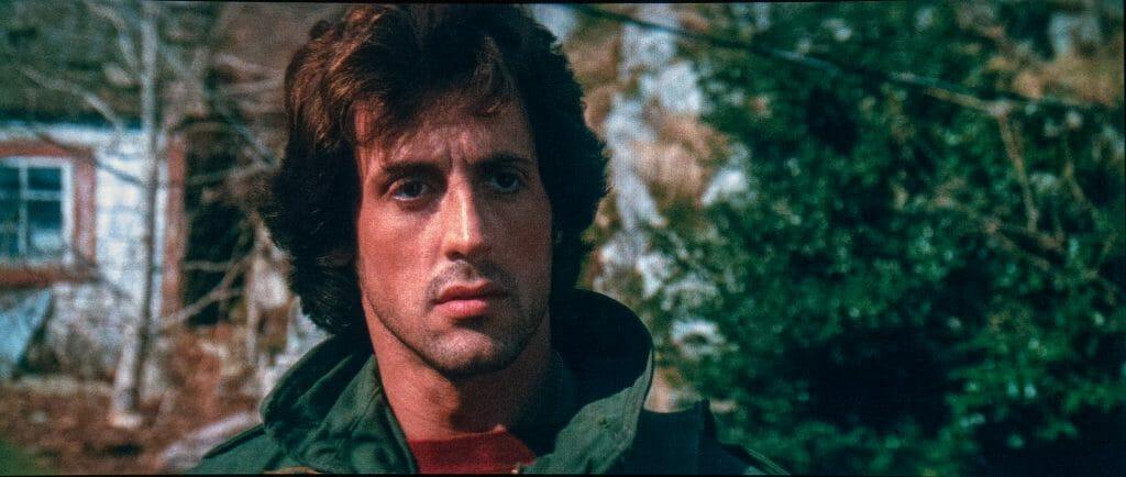 Ein junger Stallone in seinem ersten Rambo-Film