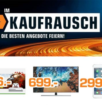 Der Kaufrausch-Prospekt von Saturn.de lockt mit Highlight-Angeboten z.B. einem Xbox One S Bundle für nur 166 Euro