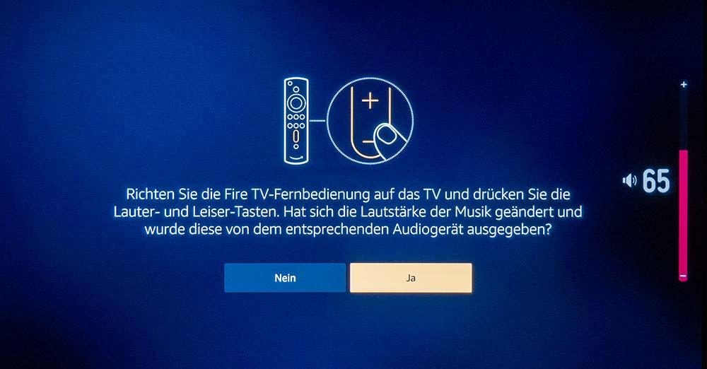 Die Alexa-Univeralfernbedienung erkannte unsere Testgeräte (LG & Samsung) ohne Probleme. Die Lautstärke und andere Funktionen des Fernsehers liesen sich fortan ohne Probleme steuern.