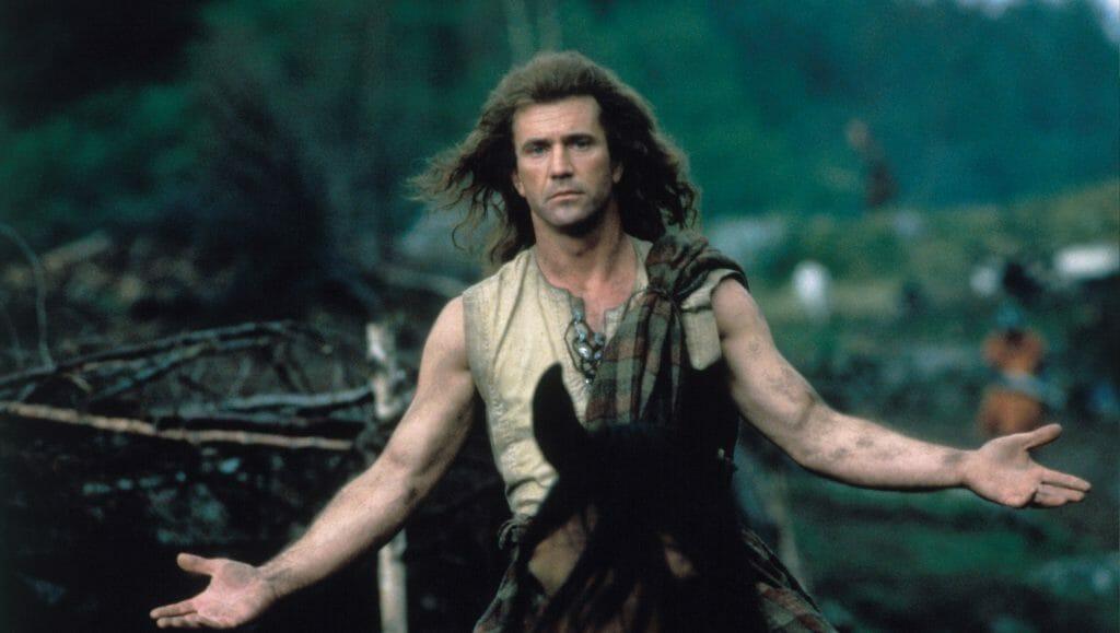 Hauptfigur William Wallace (Mel Gibson) auf seinem Pferd