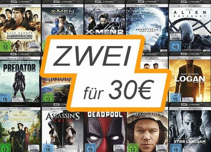 Zwei 4K Blu-rays zum Schnäppchen-Preis von 30 Euro!