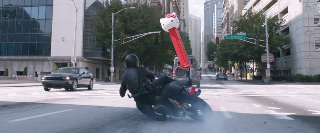 Popkulturelle Referenzen wie diesen Hello Kitty Pez-Spender gibt es immer wieder im jüngsten Ant-Man Film