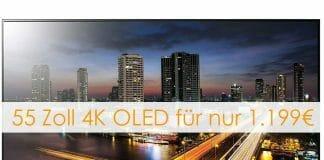 Den 55 Zoll 4K OLED TV B8 von LG gibt es aktuell für 1.199 Euro! (5-Monats-Finanzierung möglich)