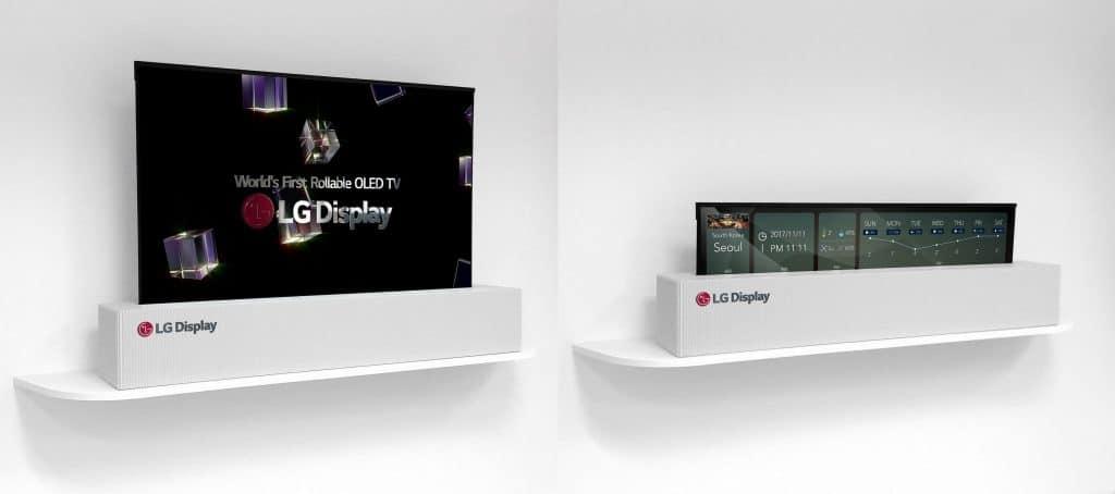 LGs aufrollbarer OLED-Prototyp von der CES 2018 soll im nächsten Jahr in den Handel kommen