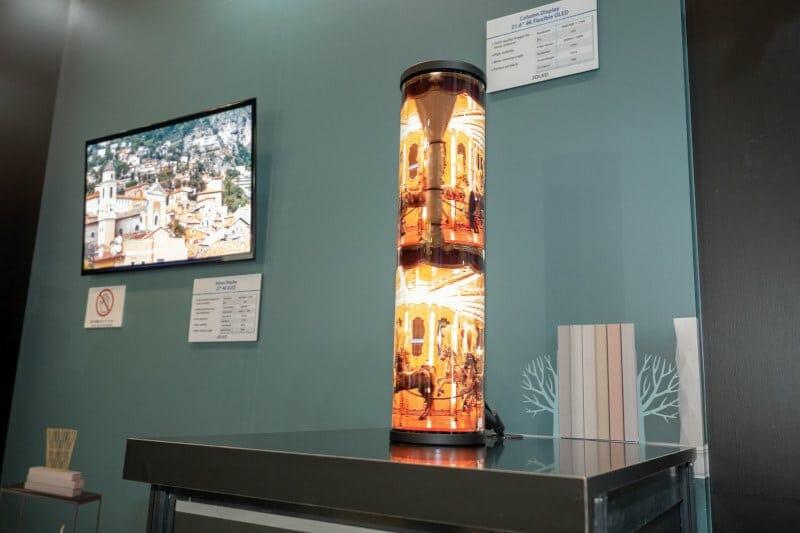 Die OLED-Displays sind auch extrem flexibel