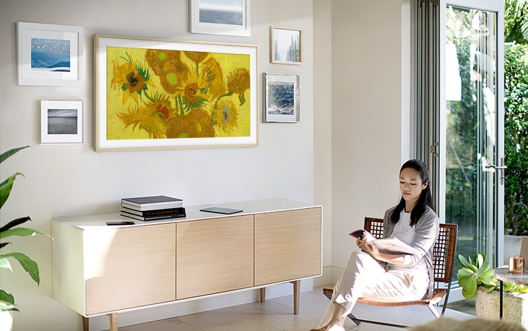 The Frame 2019 soll dank Quantum Dot Display die Kunstwerke noch realistischer darstellen