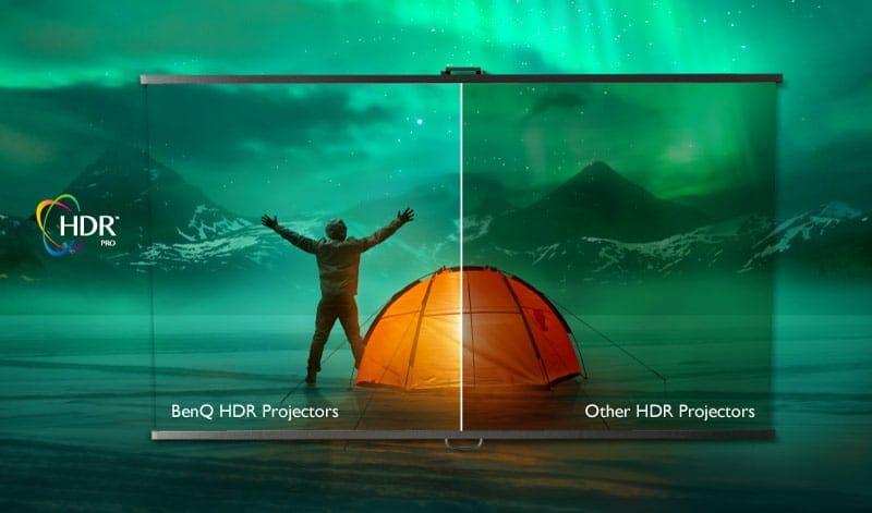 Dank HDR PRO (HDR10 & HLG) erlaubt der BenQ W2700 eine detailreiche, natürliche Bilddarstellung