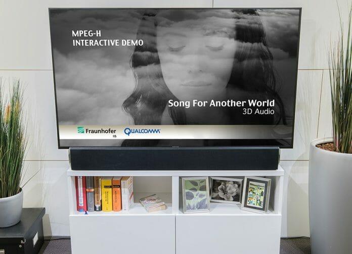 Das Fraunhofer Institut präsentiert einen ersten MPEG-H-fähigen Soundbar auf der CES 2019 (Abbildung Prototyp)