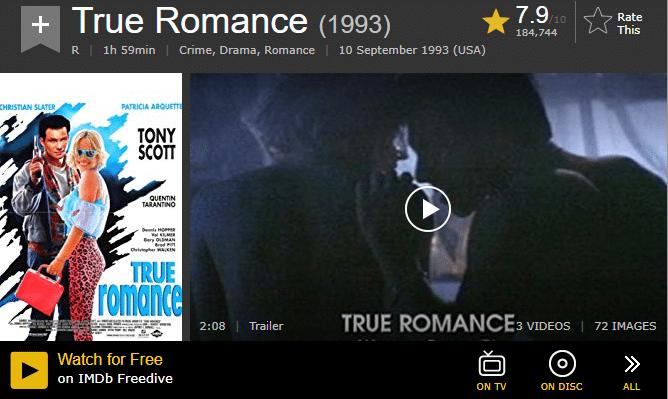 """Filme und Serien die Teil des """"IMDB Freedrive""""-Angebotes sind, werden in der Übersicht gekennzeichnet"""