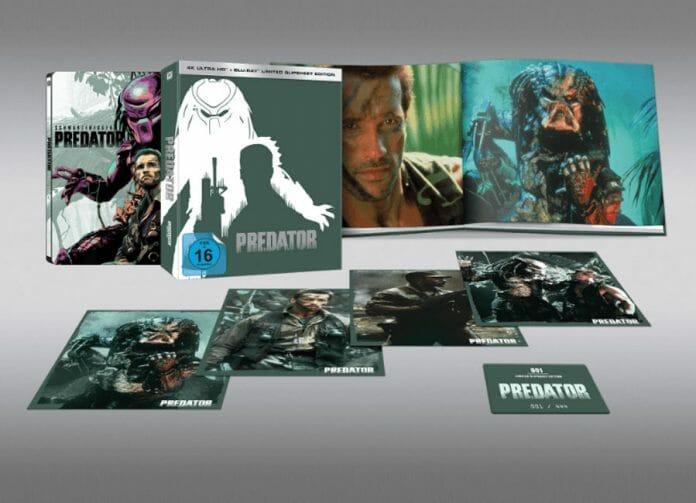 Die limitierte Slipsheet-Edition der Predator 4K Blu-ray gibt es nur 444 mal (nummeriert)