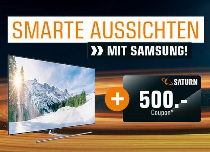Einkaufs-Coupon von bis zu 500€ sichern beim kauf eines Samsung 4K oder 8K Fernsehers