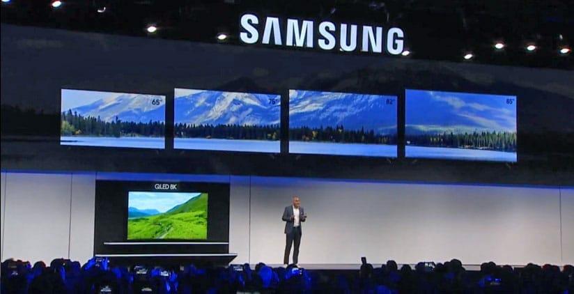 Da Samsung 8K QLED TV-Lineup 2019 besteht aus einem 65, 75, 82, 85 und 98 Zoll Modell.
