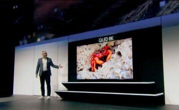 Der 98 Zoll 8K QLED war die einzige TV-Neuankündigung auf der Samsung CES-Pressekonferenz
