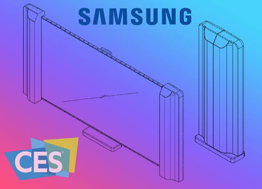 Samsung hat ein Patent für einen Fernseher mit einem aufrollbarem Display eingereicht