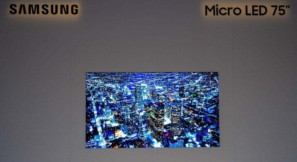 Samsung 75 Zoll Micro LED TV mit 4K Auflösung leidet noch an Kinderkrankheiten.