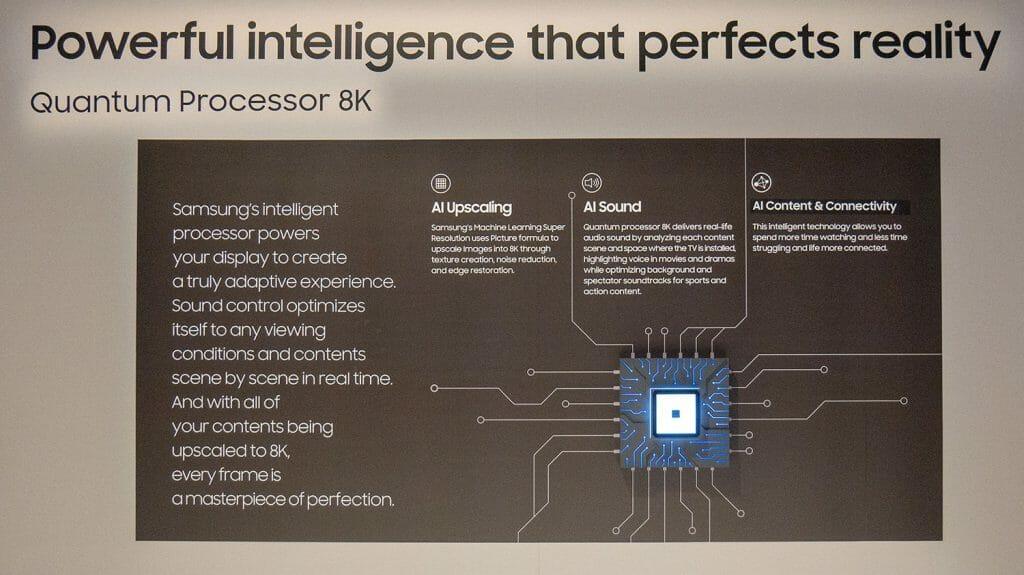 Samsungs Quantum Processor 8K verbessert nicht nur Bild- sondern auch Audioquellen