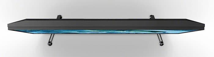 """Die Bautiefe des ZG9 ist aufgrund der Größe des Displays und des """"Backlight Master Drive"""" doch etwas üppiger ausgefallen."""