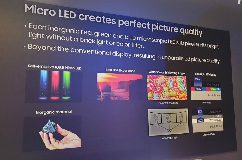 """Die Vorteile der Micro LED Technologie auf einen Blick. Hat Samsung das """"perfekte"""" Display erfunden?"""