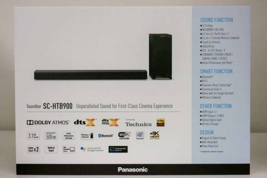 Panasonic HTB900 Specs
