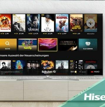 Die Rakuten TV App ist jetzt auf Hisense Smart TVs verfügbar