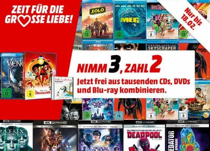Nimm 3 Zahl 2 auf das gesamte lieferbare Film & Musik-Angebot!