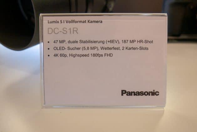 Panasonic S1R technische Spezifikationen