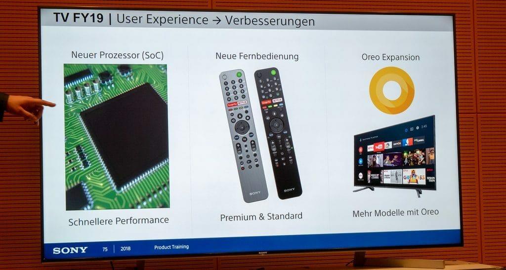 Dein neues SoC (System on Chip) eine neue Fernbedienung und das Android TV 8.0 (Oreo) Betriebssystem verbessern die Nutzererfahrung enorm