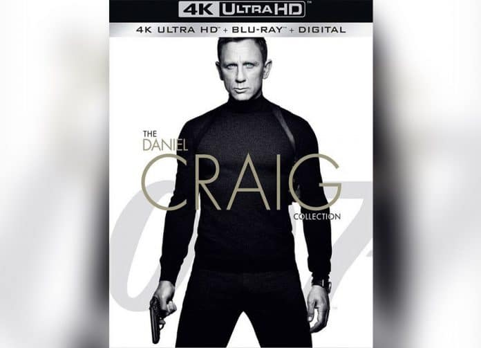 Vier James Bond Filme mit Daniel Craig erscheinen in einer 4K Blu-ray Collection