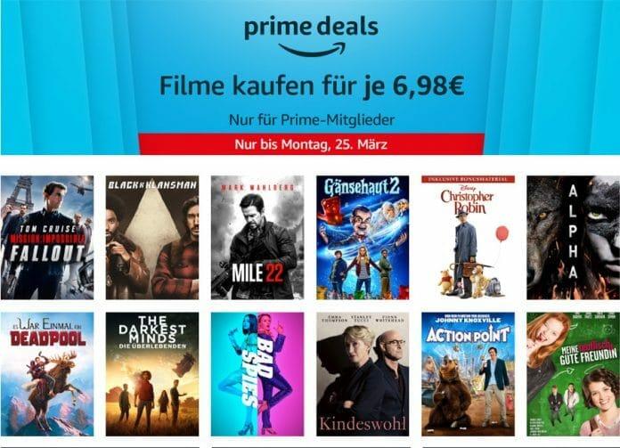 Prime Mitglieder können 10 ausgewählte Filme zu günstigen 6,95 Euro via Prime Video kaufen!