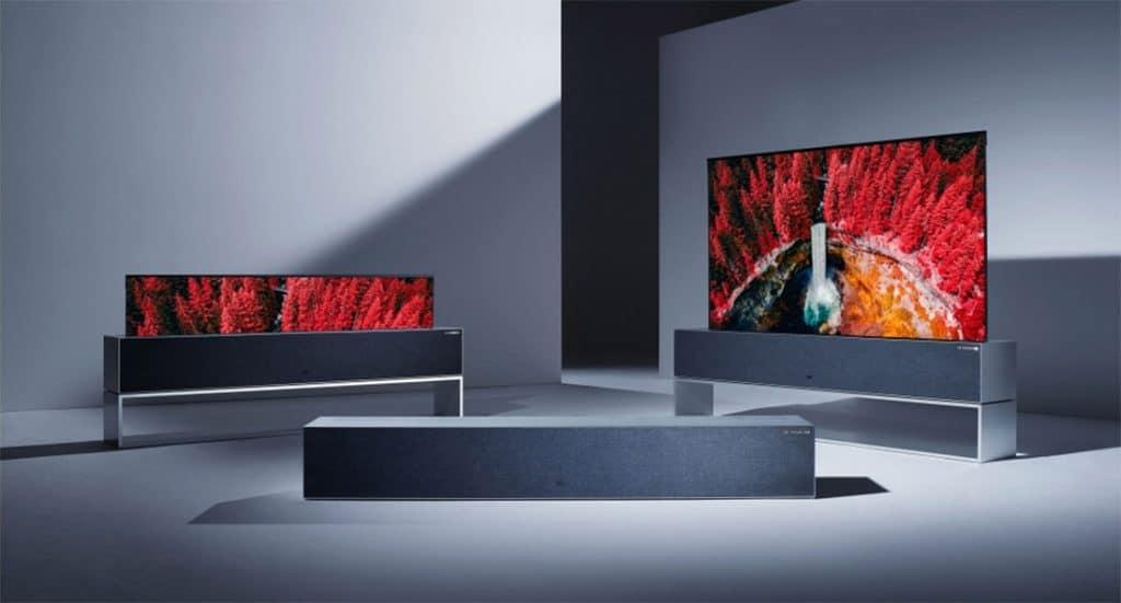 Auch der aufrollbare R9 OLED TV von LG erhielt einen Award von der iF Jury